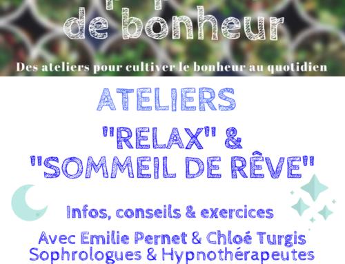 """Ateliers """"Relax"""" et """"Sommeil de rêve"""" le 16 juin"""